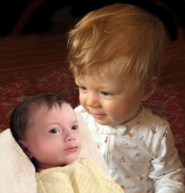 Taiteilija poimi Meghan Marklen ja prinssi Harryn piirteitä, ja yhdisteli niistä parin lasten mahdollisen ulkonäön.