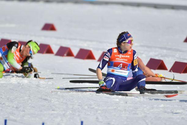 Laura Mononen hävisi Venäjälle avausosuudella 18,8 sekuntia.