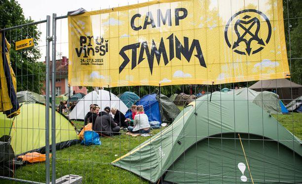 Provinssin Camp Stamina -leirintäalue.