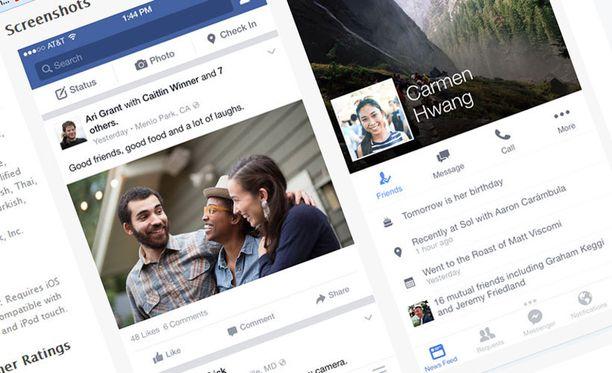 Facebook päivittää jatkuvasti mobiilisovellustaan.