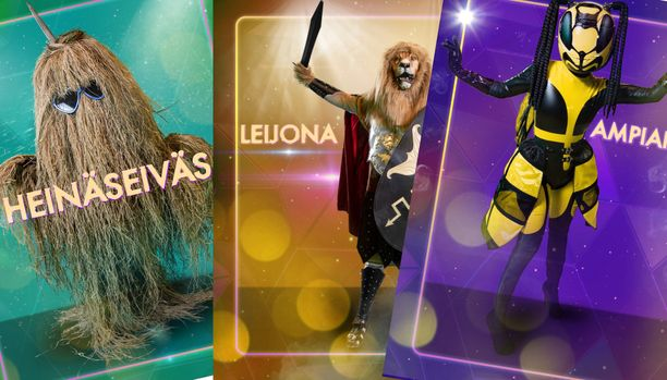 Heinäseiväs, Leijona ja Ampiainen ylsivät suositussa Masked Singer -ohjelmassa finaaliin.