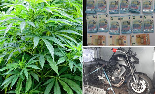 Itä-Uudenmaan poliisilaitos on tehnyt Tuusulassa merkittävän kannabistakavarikon. Operaatiossa takavarikoitiin huumeiden lisäksi tuhansia euroja käteistä, kaksi kiinteistö ja moottoripyörä.