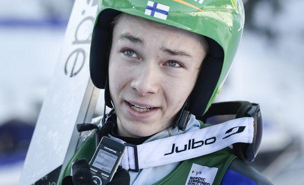 Eero Hirvonen on ollut Suomen ykkösmies yhdistetyssä tällä kaudella.