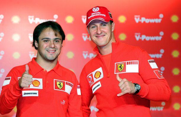Felipe Massa ja Michael Schumacher olivat tallikavereita 2006.