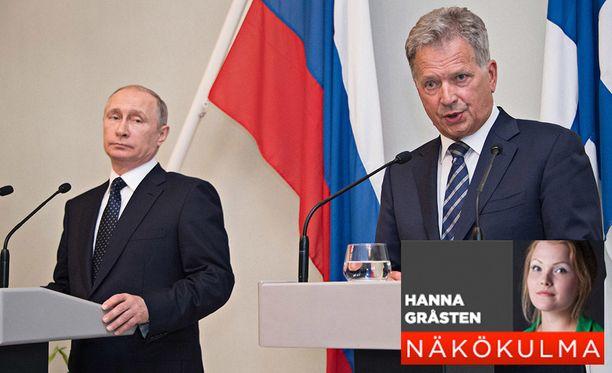 Presidentit Vladimir Putin ja Sauli Niinistö kertoivat keskustelunsa sisällöistä ja vastasivat toimittajien kysymyksiin torstaina Punkaharjulla.