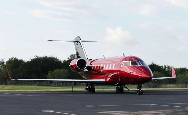 Lewis Hamiltonin Bombardier-yksityissuihkari on 18,5 miljoonan euron hintainen.
