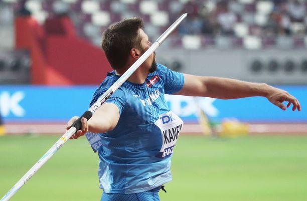 Antti Ruuskanen kilpaili Dohassa, mutta karsiutui finaalista.