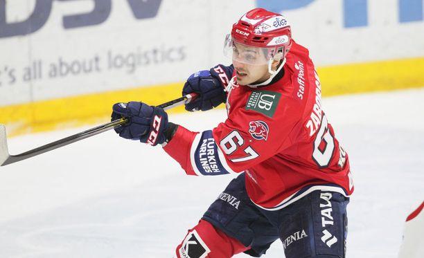 Tomas Zaborsky pelasi edellisellä Suomen-visiitillä HIFK:ssa.
