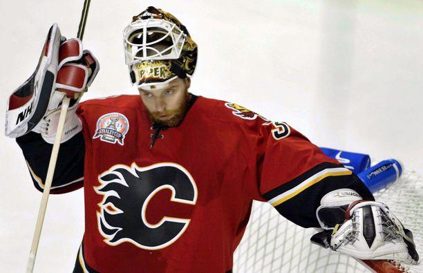Miikka Kiprusoff pelasi 576 runkosarjaottelua Calgary Flamesissa.