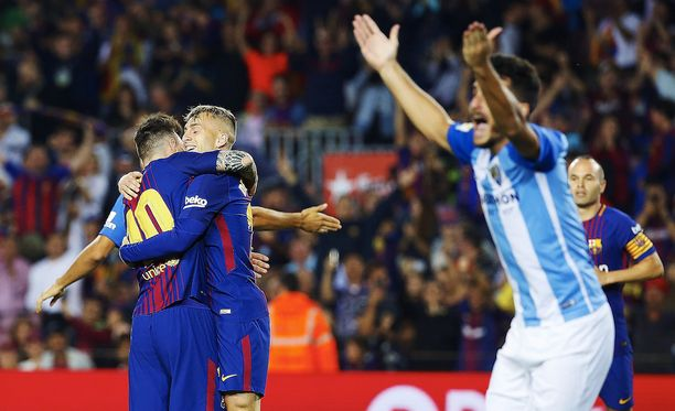 FC Barcelonan avausmaali sai Málagan pelaajat suivaantumaan ja levittelemään käsiään hämmästyksestä.