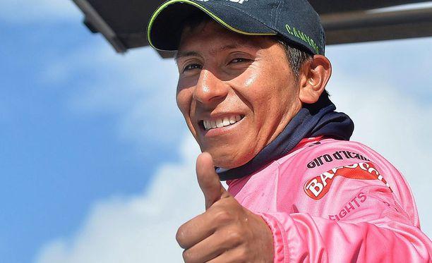 Nairo Quintana oli Italian ympäriajon ykkönen ennen Rigoberto Urania.
