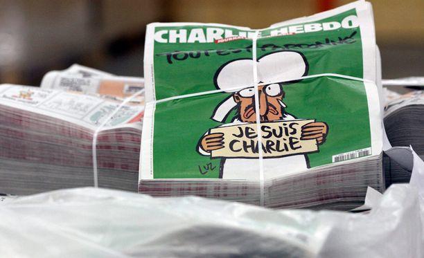 Charlie Hebdon uusin numero ilmestyy terrori-iskusta huolimatta.