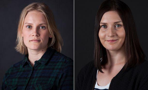 Elli Harju (vas.) ja Sanni Mattila palkittiin esimerkillisestä tiedonjulkistamisesta.