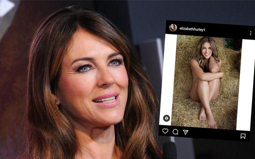 Elizabeth Hurley, 55, julkaisi intiimin alastonkuvan – kommentoi huhuja tosi-tv-sarjasta