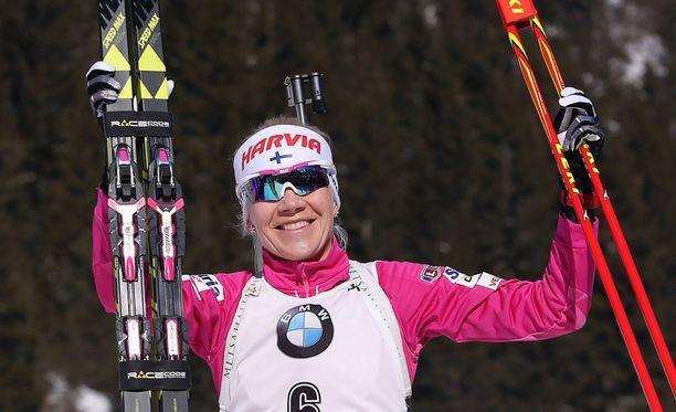 Kaisa Mäkäräinen on ainoana naisena ollut ampumahiihdon huipulla koko 2010-luvun.