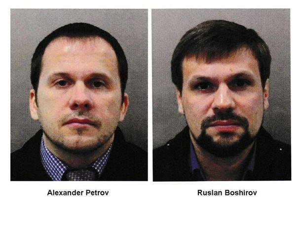 Britannia julkaisi epäiltyjen Aleksandr Petrovin ja Ruslan Boshirovin kuvat.