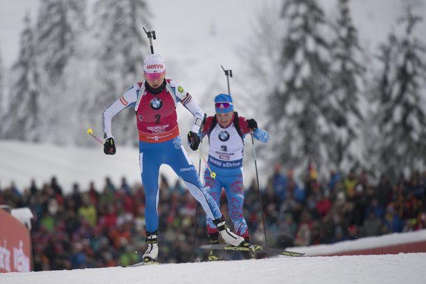 Kaisa Mäkäräisen hiihtovire ei lauantain voittokilpailussa ollut täydellinen kehossa muhivan taudin vuoksi.