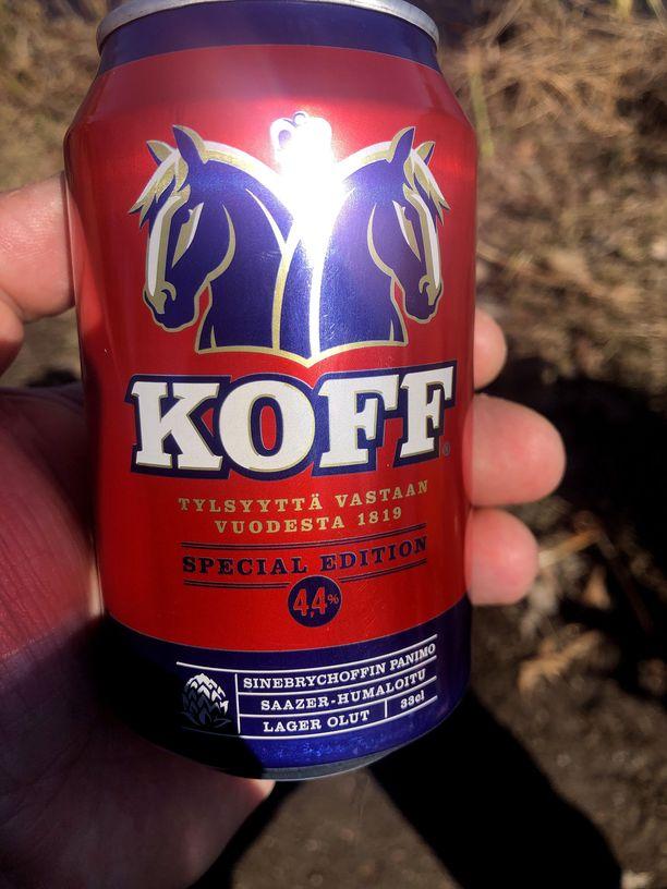 Tältä näyttää Koff Special Edition 4,4. Kyseinen olut on saatavilla rajoitetun ajan SOK:n valikoimassa.