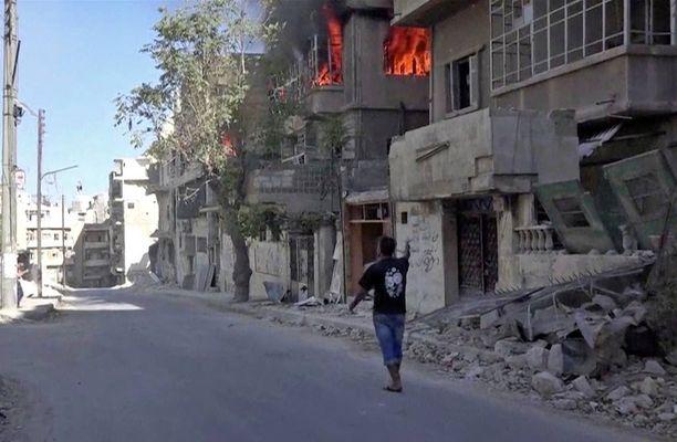 Aleppoa on pommitettu rajusti jo monta viikkoa. Tämän kuvan on ottanut Doctors Without Borders -järjestö viime viikolta.