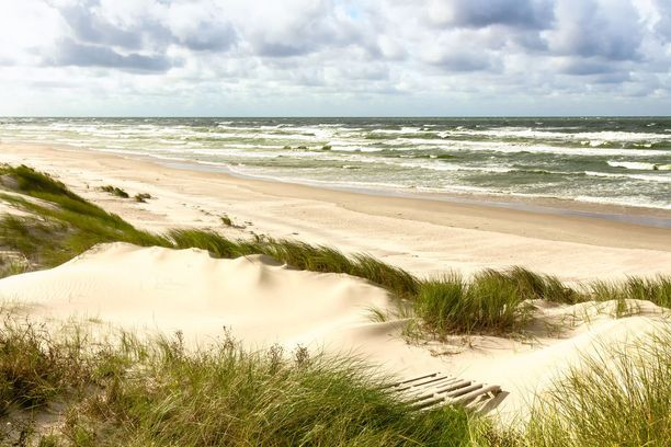 Kuurinkynnäksen upeita hiekkadyynejä Nidan lähellä Liettuassa. Osa kynnäksestä kuuluu Venäjälle.