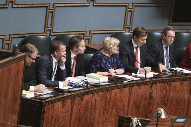 Eduskunta käsittelemässä budjettia syyskuussa 2018.