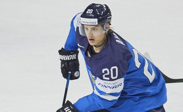 Sebastian Aho on Suomen kärkijätkiä Tanskan MM-kisoissa.