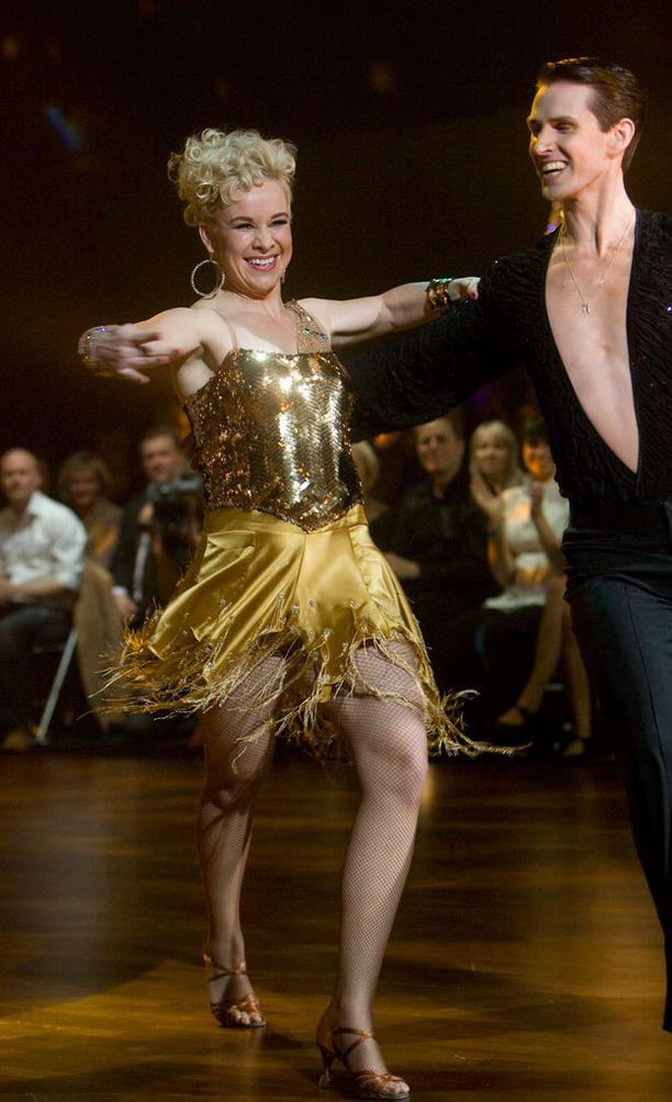 Rosa Meriläinen pärjäsi kilpailussa upeasti parinsa Sami Heleniuksen kanssa neljännellä tuotantokaudella keväällä 2009.