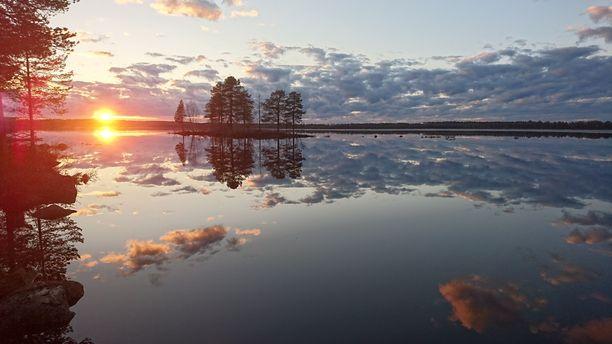 Ranuan Simojärvi oli 15.5.2019 ikuistetussa kuvassa erityisen kaunis.