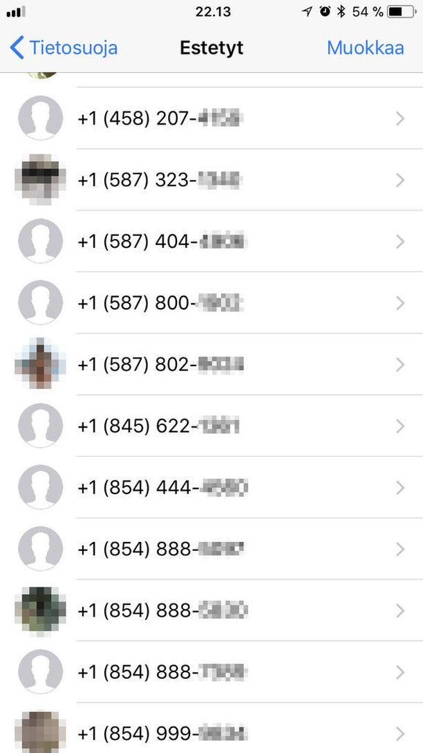 Häirikkö käyttää jatkuvasti uutta numeroa.