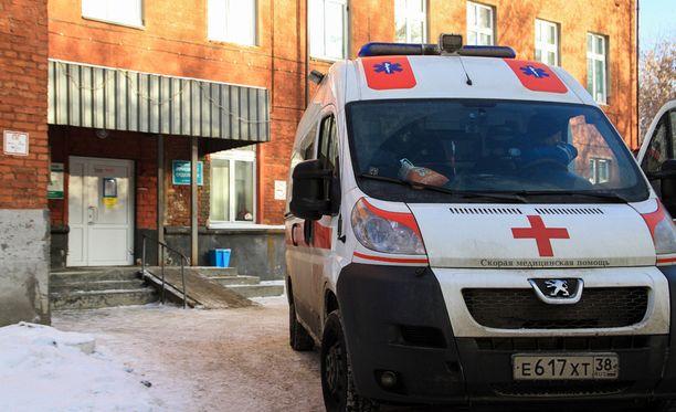 Myrkyllistä kylpynestettä juoneita hoidetaan sairaalassa Irkuskissa.