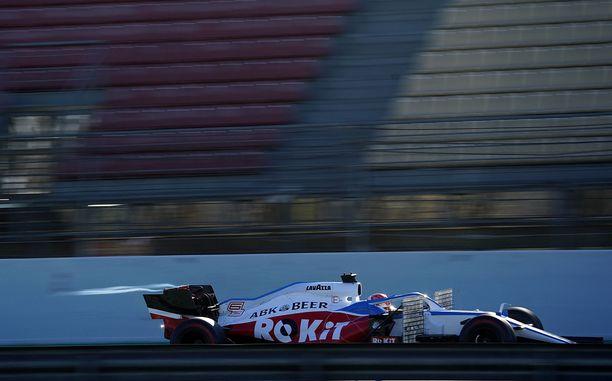 Näin näkyvästi ROKiT oli vielä esillä Williamsin autoissa Barcelonan talvitesteissä helmikuussa.