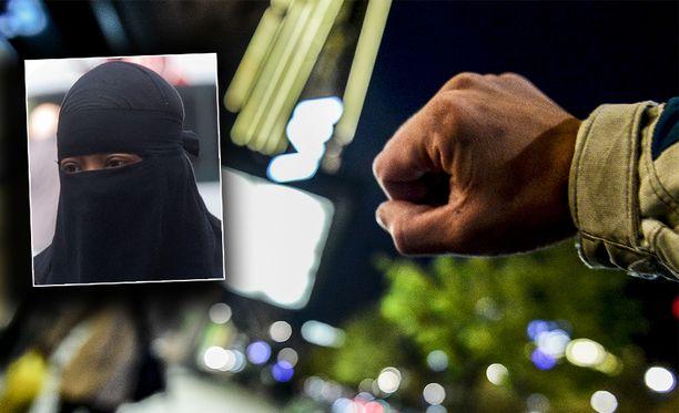 Miesten väkivaltaisuus ja islaminuskon fundamentalistinen tulkinta johtivat lähestymiskieltoihin. Kuvituskuva.