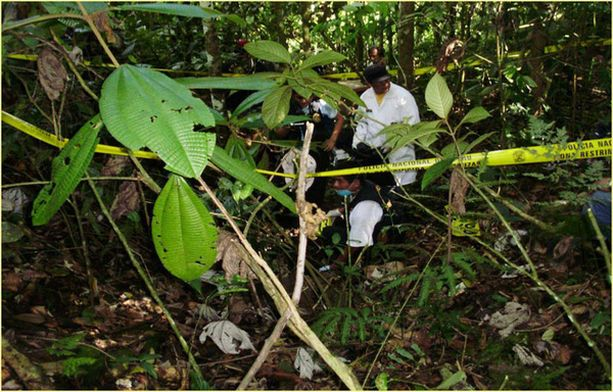 Ruumiit oli kätketty viidakkoon.