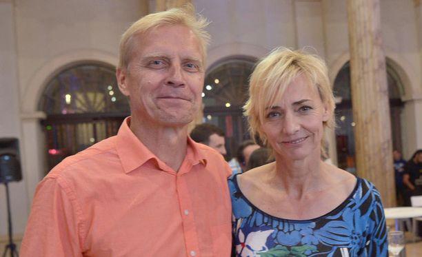 Arto Bryggare ja Heike Drechsler olivat yhdessä Riossa Suomi-talon avajaistilaisuudessa.