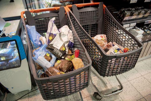 Kannelmäen kierrätyspiste vastaanottaa elintarvikkeita muun muassa suurilta yrityksiltä.