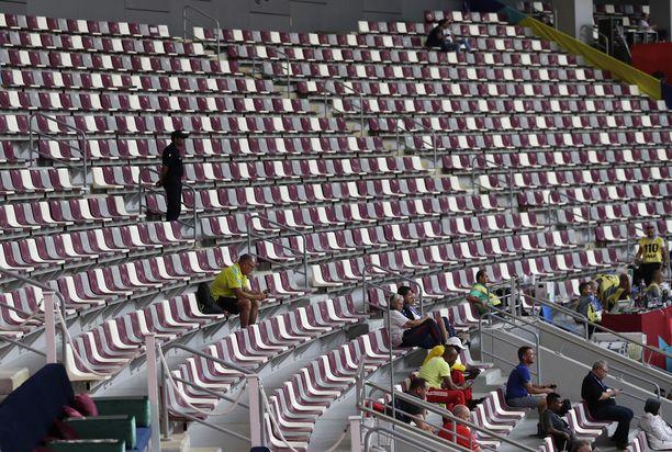 Dohan MM-kisojen katsomossa on riittänyt tilaa.