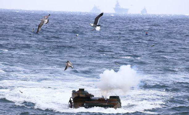 Etelä-Korean merivoimien vuotuiset harjoitukset Pohjois-Korean mahdollisen hyökkäyksen varalle.