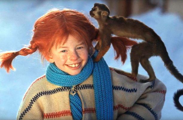 Tästä roolista Inger Nilsson muistetaan parhaiten.  Kuvassa Inger Nilssonin näyttelemä Peppi Pitkätossu ja Herra Tossavainen. Peppi-elokuvia kuvattiin 60-luvun lopussa ja 70-luvun alussa.