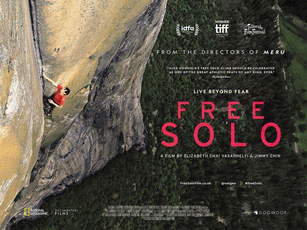 Free Solo -elokuvan mainosjuliste.