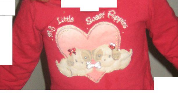 Esimerkiksi tämä koiranpentuteemainen paita on tunnistusta vailla.