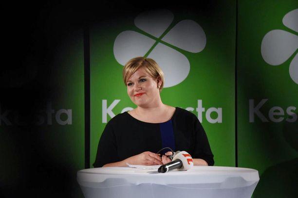 Keskustan puheenjohtaja Annika Saarikko