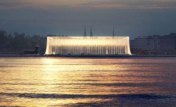 Ehdotus 6 rakentuu suorakaiteen muotoisesta kaksikerroksisesta sisätilasta, joka kietoutuu verhomaisiin lasipaneeleihin. Julkisivun ja galleriatilojen väliin muodostuu ympäristön kannalta kestävä, luonnonvaloa tulviva julkinen tila.