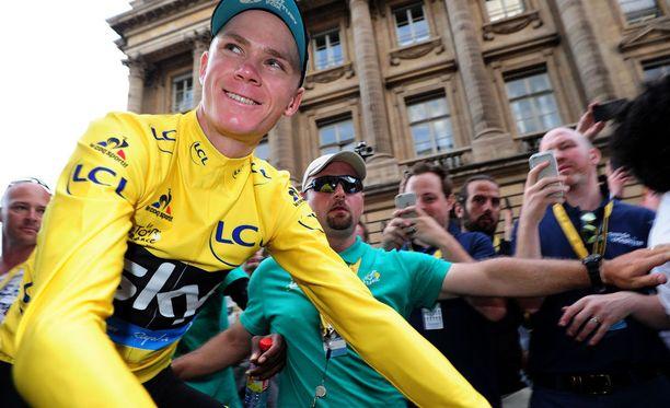 Chris Froome puolustaa kahden edeltävän vuoden Tour de France -voittoa.