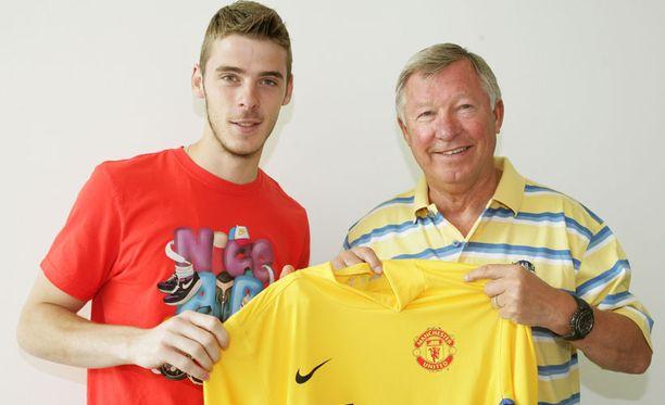 David de Gea ja Sir Alex Ferguson.