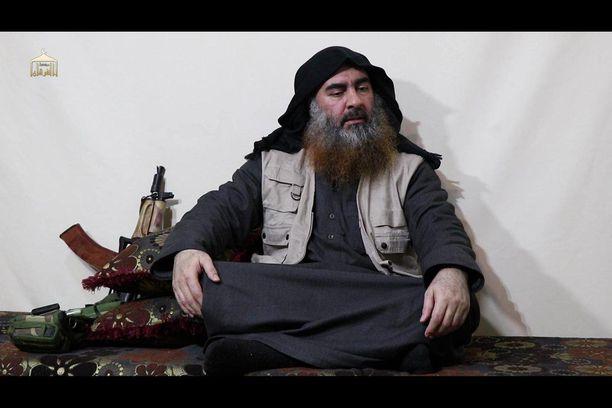 Abu Bakr al-Baghdadi maanantaina julkaistulla videolla.