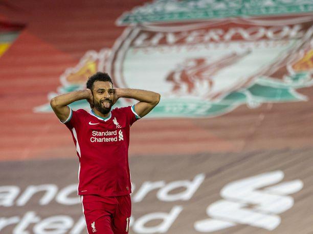Mohamed Salah oli vireessä heti kauden avausottelussa.