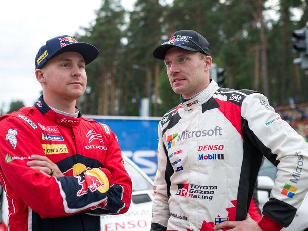Esapekka Lappi ja Jari-Matti Latvala taistelevat sunnuntaina siitä, kumpi on vuoden 2019 Jyväskylän MM-rallin paras suomalainen.