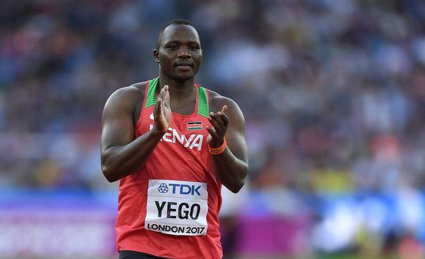 Julius Yego puolustaa MM-kultaa.