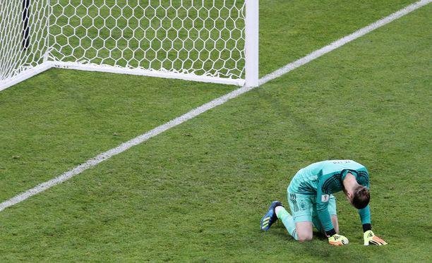 David de Gean tuska Cristiano Ronaldon 2-1-maalin jälkeen oli silmiinpistävää.