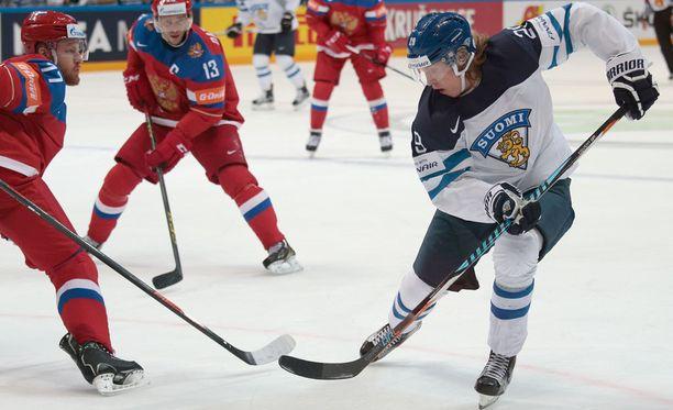 Patrik Laine oli Ruotsin Gustav Nyquistin ohelle Venäjän MM-kisojen paras maalintekijä. Molemmat pelaajat sivalsivat seitsemän nyyttiä.